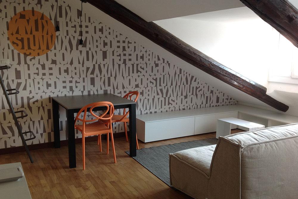 Ristrutturazione mansarda torino progettazione interni e for Idee ristrutturazione